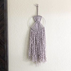 Accessories - Light Brown Grey Macrame Wall Hanging Decor